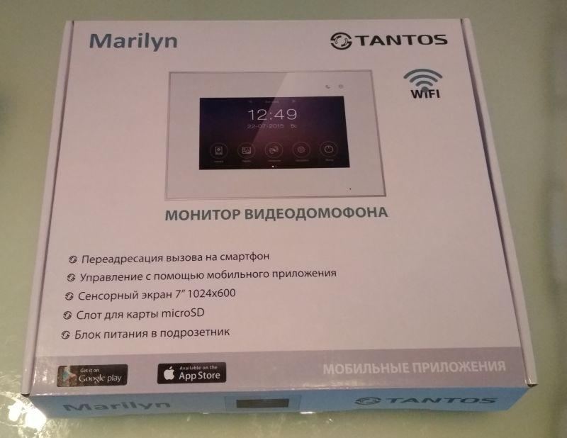 Домофон с перенаправлением вызова на смартфон Tantos Marilyn