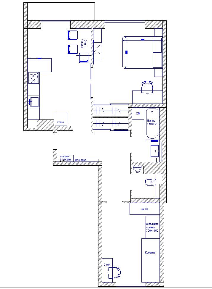 Умный Дом в двухкомнатной квартире на EasyHomePLC