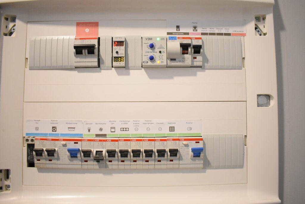 Электрощит с EasyHomePLC в 2-комнатной квартире