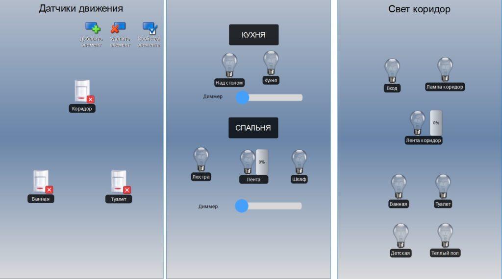 Различные скриншоты EasyHome