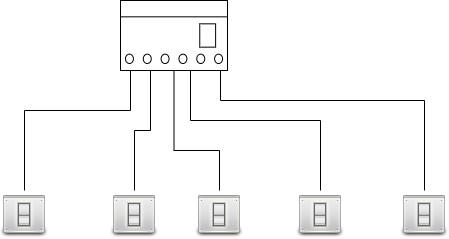 Подключение выключателей звездой или шлейфом